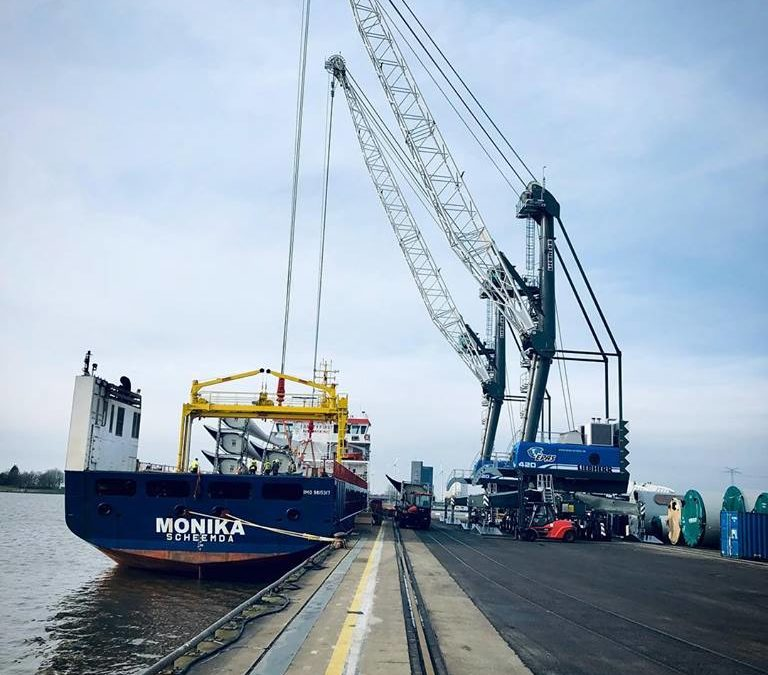 "m/v ""Monika"" under loading at Emden"