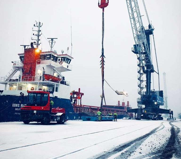 Winter wonderland at our terminal Nordkai
