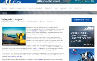 4 C Offshore: EnBW picks port agents