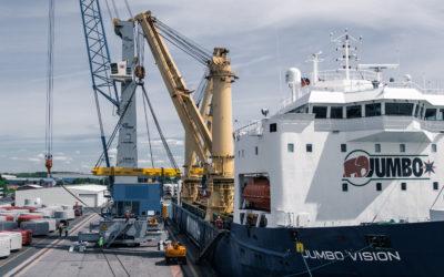 Bye bye…Gottwald mobile harbor crane