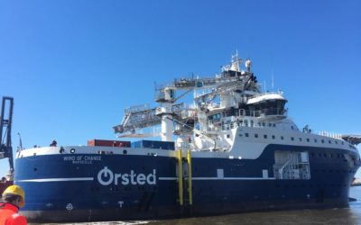 """New-building SOV """"Wind of Change"""" arrived in Emden!"""