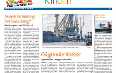 EZ 16.05.2019 (Kinderseite) Fliegender Koloss – Ungewöhnliche Ladung für ein Schiff