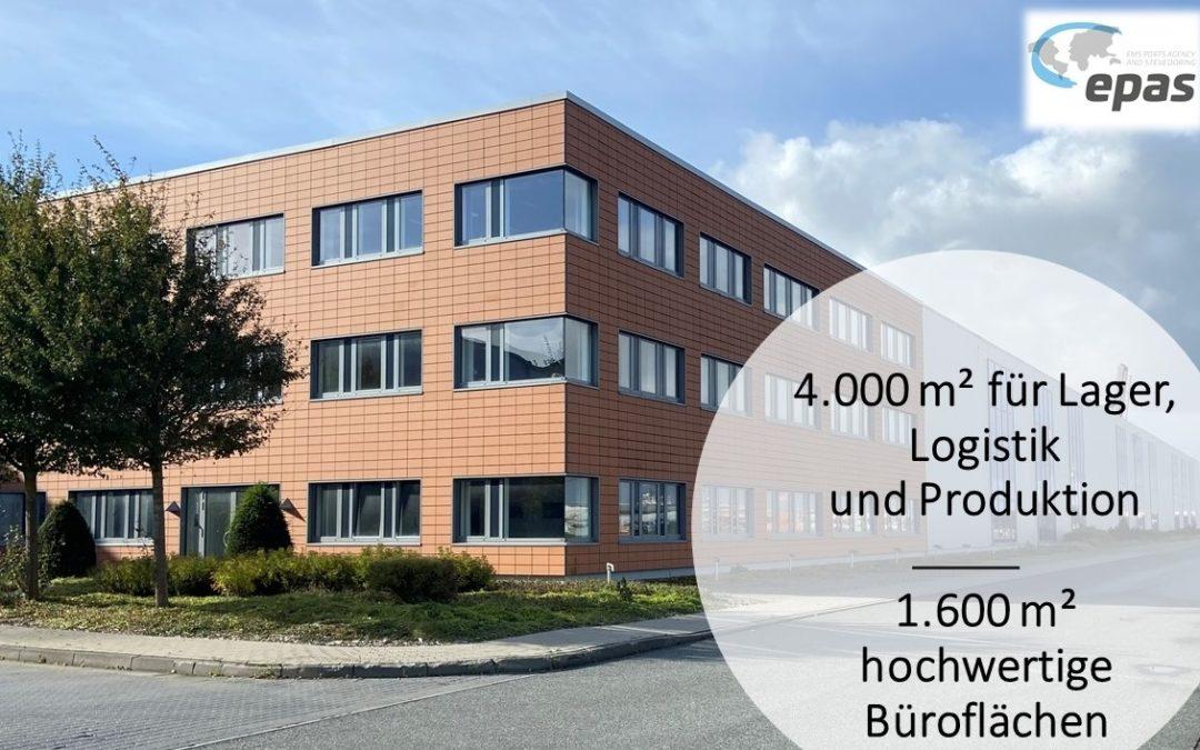 epas erweitert seine Hallen-, Lager- und Bürokapazitäten im Emder Hafen